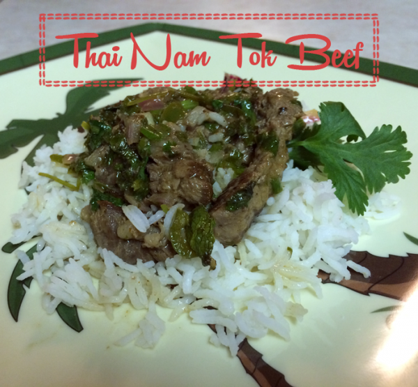 Thai Nam Tok Beef Recipe or Waterfall Beef