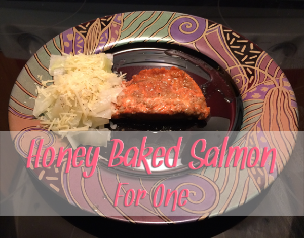 honey baked salmon for one