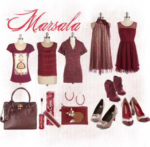 Fantasy Wardrobe Friday: Marsala Hues
