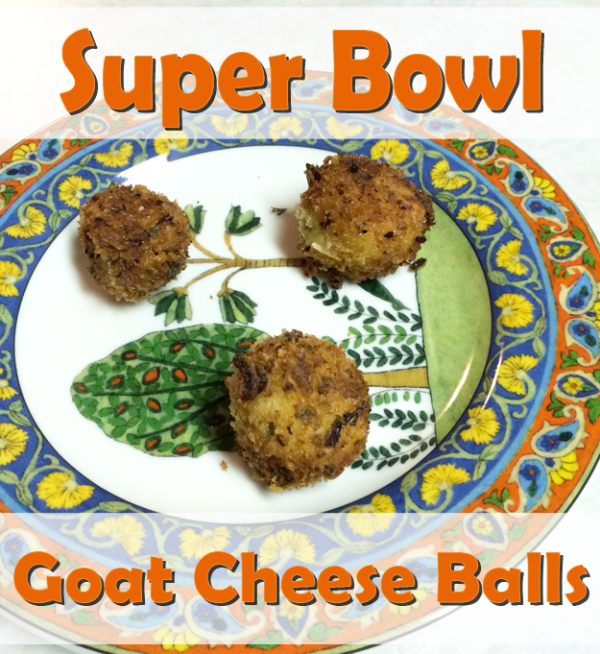 super bowl goat cheese balls